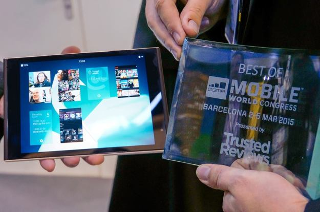 Best Tablet of MWC15 award goes to the Jolla Tablet!